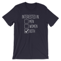 Interested In Men, Women, Both - Bisexual Unisex Short Sleeve T-Shirt