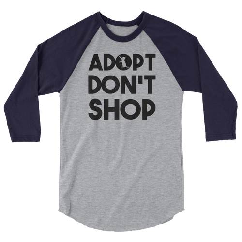 Adopt Don't Shop -Rescue Cat 3/4 Sleeve Raglan Shirt - Cruel World Apparel Shirts Clothing