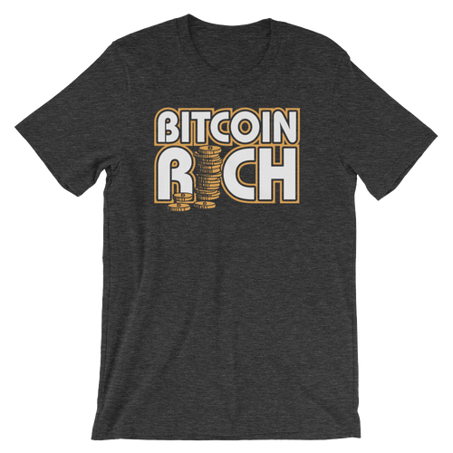 Bitcoin Rich Short-Sleeve Unisex T-Shirt