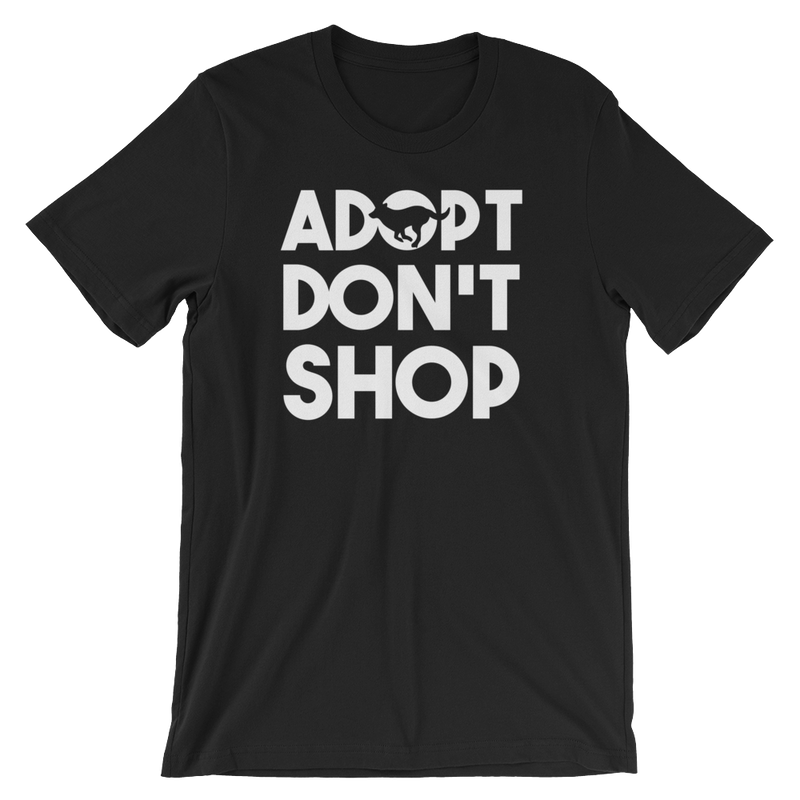 Adopt Don't Shop - Rescue Dog Unisex Short Sleeve T-Shirt - Cruel World Apparel Shirts Clothing