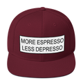 More Espresso Less Depresso - Snapback Hat