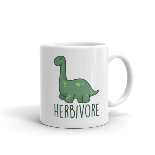 Herbivore / Vegetarian - Dinosaur Coffee Mug - Cruel World Apparel Shirts Clothing