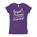 Forget Princess I Want To Be a Scientist - Girl's T-Shirt
