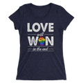 Love Will Win In The End - Ladies' Short Sleeve T-Shirt