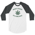 Don't Panic It's Organic - 3/4 Sleeve Raglan Shirt