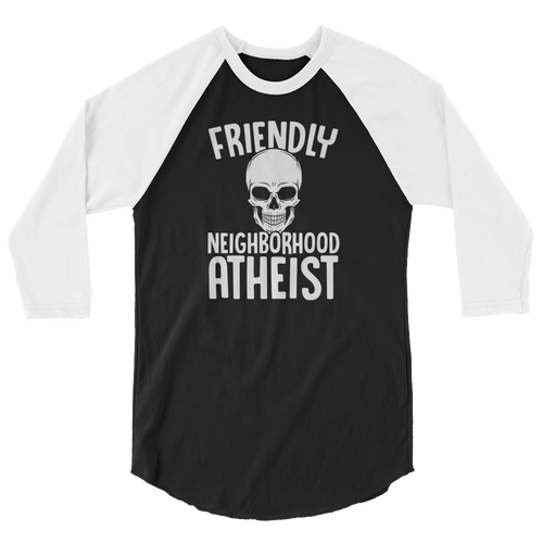 Friendly Neighborhood Atheist - 3/4 Sleeve Raglan Shirt