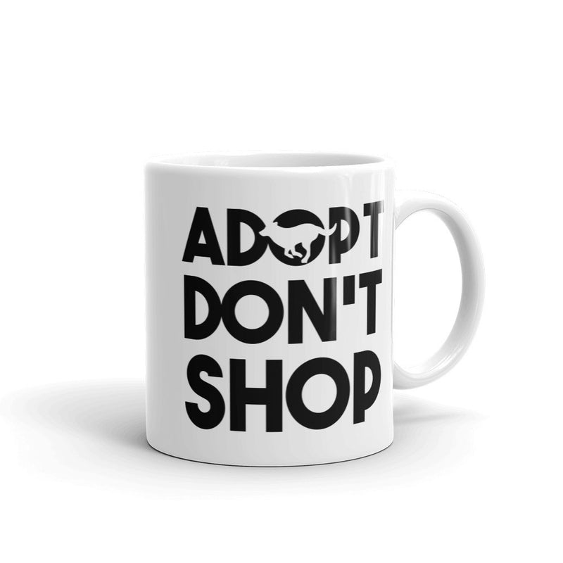 Adopt Don't Shop - Rescue Dog Coffee Mug - Cruel World Apparel Shirts Clothing