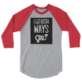 I Go Both Ways - 3/4 Sleeve Raglan Shirt