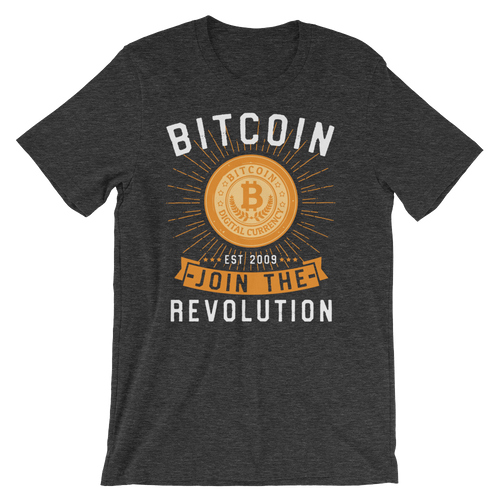 Bitcoin Join the Revolution - Short-Sleeve Unisex T-Shirt