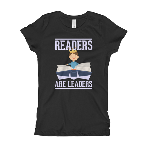 Readers Are Leaders Girl's T-Shirt Reading - Cruel World Apparel Shirts Clothing