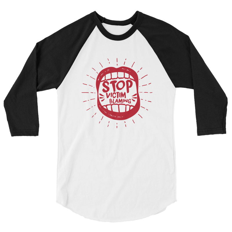 Stop Victim Blaming - 3/4 Sleeve Raglan Shirt