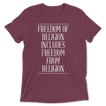 Freedom Of Religion Means Freedom From Religion - Short Sleeve T-Shirt
