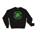 Skip A Straw Save A Turtle - Planet Earth Environmental Activist Gift - Champion Sweatshirt