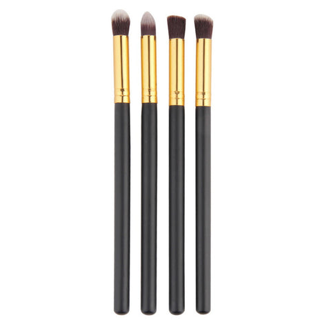 Gold and Black EyeShadow Wooden Brushes x 4 pieces - VainCity