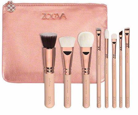 All Pink Rose Luxury Golden Set of 8 Brushes x 1 set