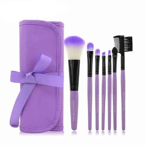 Makeup Brush Set x 7 pieces with Bag