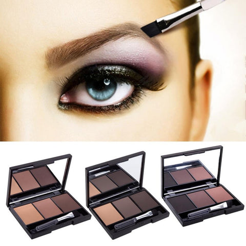 Waterproof multipurpose Eyebrow Powder in 3 colours x 1 pieces