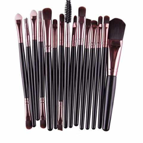 Multipurpose makeup and eyeshadow brush of 15 pieces - VainCity