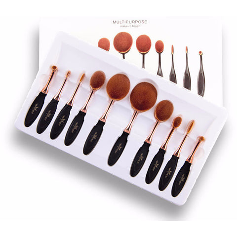 Multipurpose Makeup set Brushes of either 5 to 10 pieces per set - VainCity