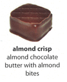almond crisp flavoured chocolate