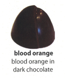 blood orange flavoured chocolate