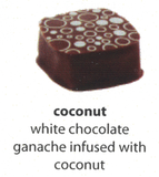 coconut flavoured chocolate