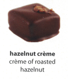 hazelnut creme flavoured chocolate