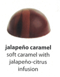 jalapeno caramel flavoured chocolate
