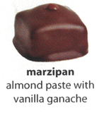 marzipan flavoured chocolate