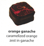orange ganache flavoured chocolate