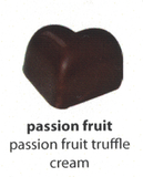passion fruit truffle flavoured chocolate