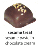 sesame flavoured chocolate