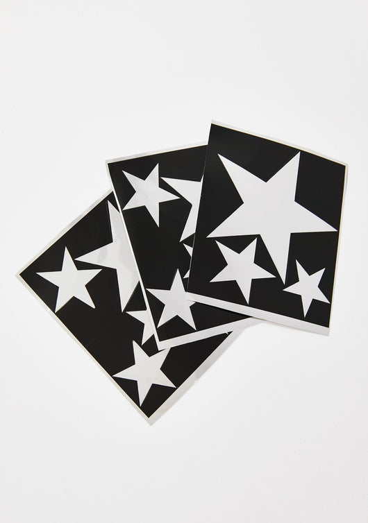 Star Disco Stencil Sheets
