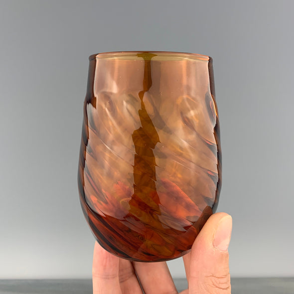 Amber Stemless Wineglass