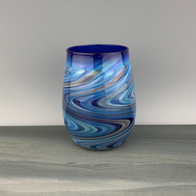 Cobalt Blue Stemless Wineglass