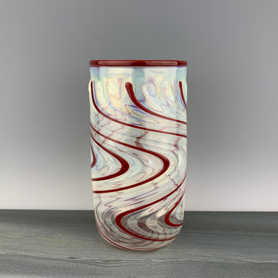 Clear and Red Pint Glass