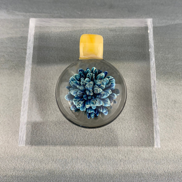 Blue and Yellow Frit Pendant