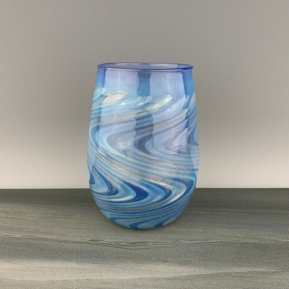 Brilliant Blue Stemless Wineglass