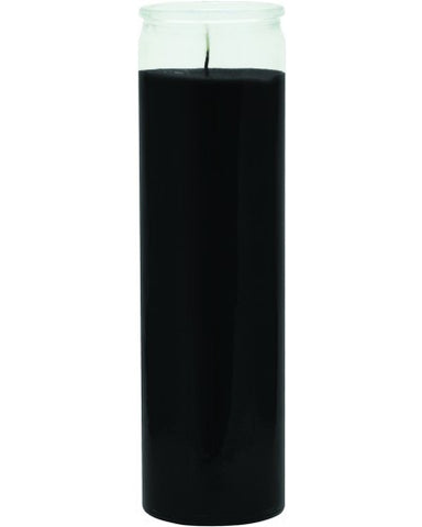 Plain Black Candle - 1 Color 7 Day