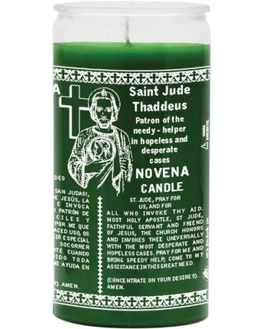 St Jude Green Candle - 1 Color 14 Day