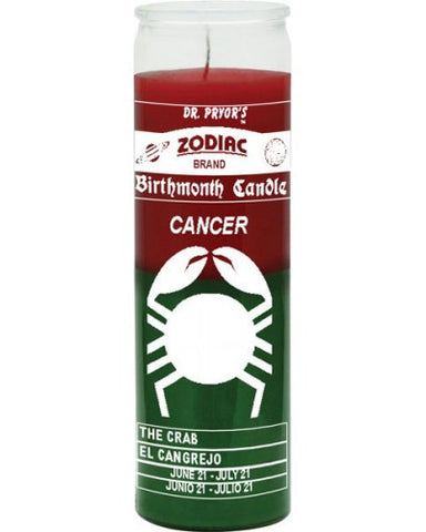 Cancer Red/Green Candle