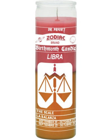 Libra Pink/Gold Candle