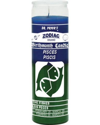 Pisces Blue/Green Candle
