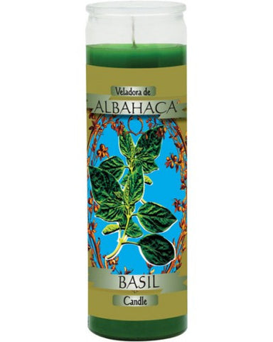 Basil Green Candle - Scented Wax 7 Day