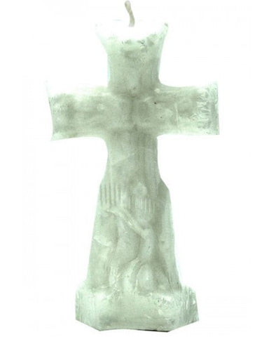 Cross White Candle - Image