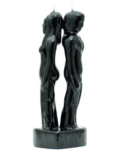 Couple Back / Back Black Candle - Image