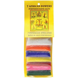 7 African Bath Salt Carded - 7 Pack