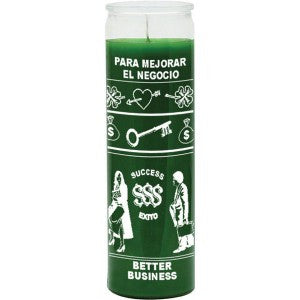 Better Business Green Candle