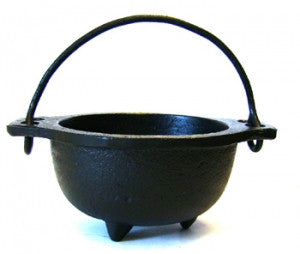 "Cast Iron Cauldron 5"" wide"