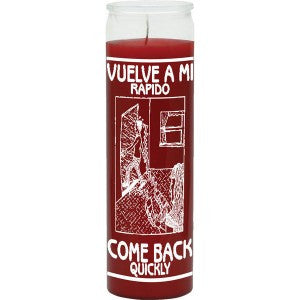 Come Back Quickly Red Candle